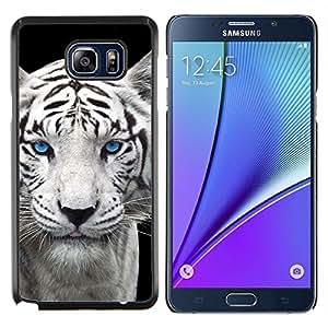 YiPhone /// Prima de resorte delgada de la cubierta del caso de Shell Armor - Snow Leopard Tiger perrito lindo Cub Ojos azules - Samsung Galaxy Note 5 5th N9200