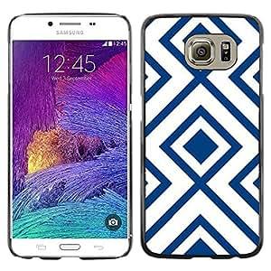 Be Good Phone Accessory // Dura Cáscara cubierta Protectora Caso Carcasa Funda de Protección para Samsung Galaxy S6 SM-G920 // White Pattern Vintage Wallpaper