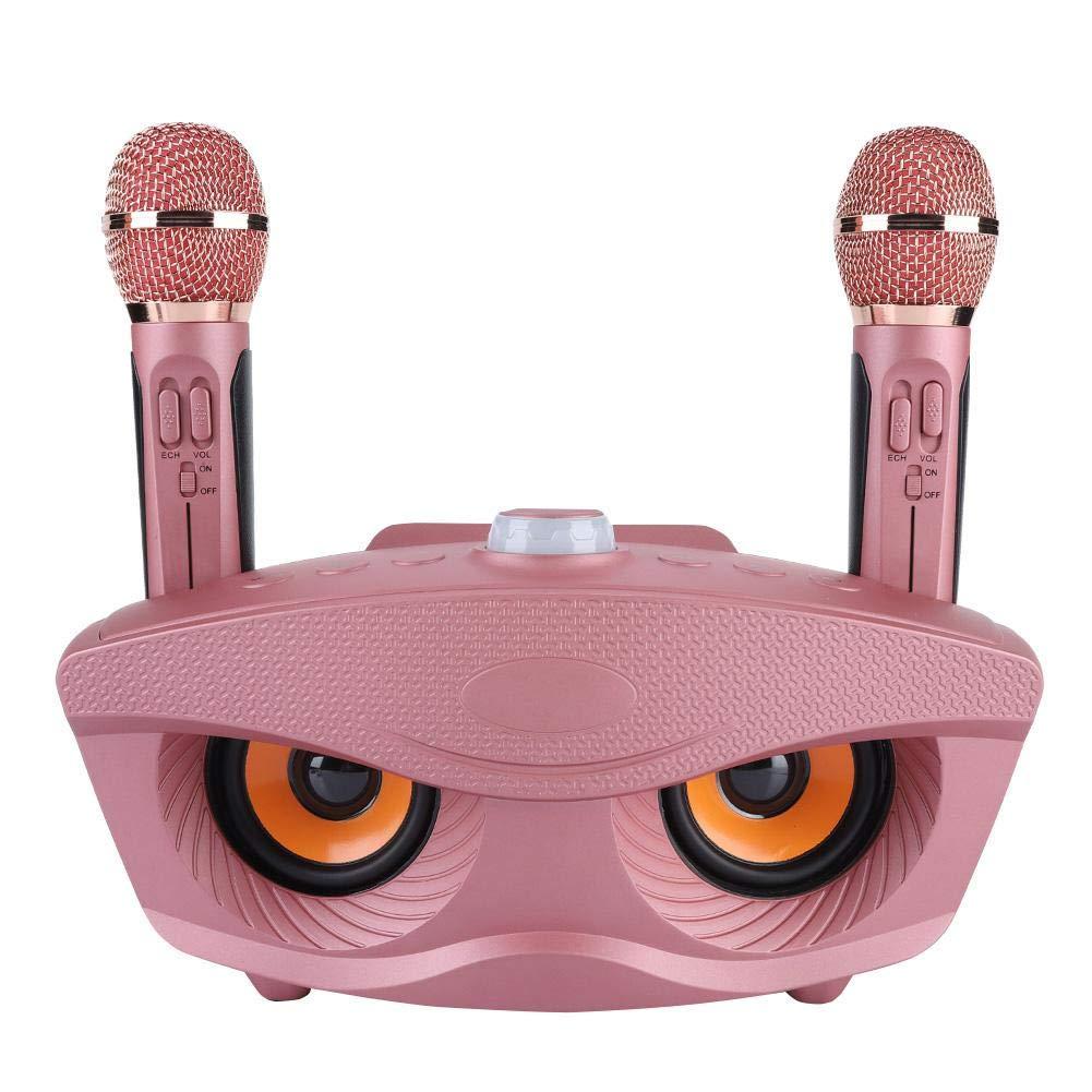 Mavis Laven Microphone sans Fil Bluetooth de karaok/é , Karaok/é Machine de Haut-Parleur sans Fil Bluetooth 2 Microphones de Support FM Carte TF Radio et Disque U pour Le Voyage /à la Maison