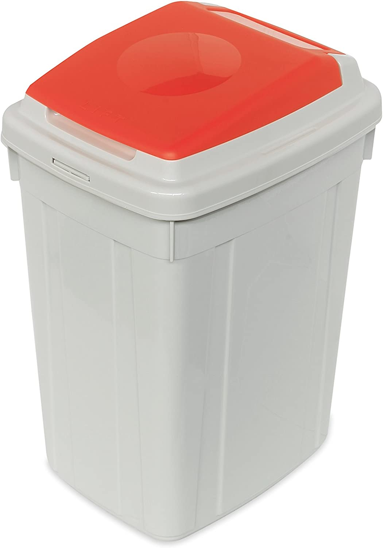 Cervic Papelera Eco-Lid de 42 litros 39 x 32 x 58 cm Amarillo