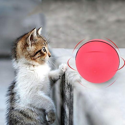 Fesjoy Juguete para Gato con Bola de luz LED roja activada por ...
