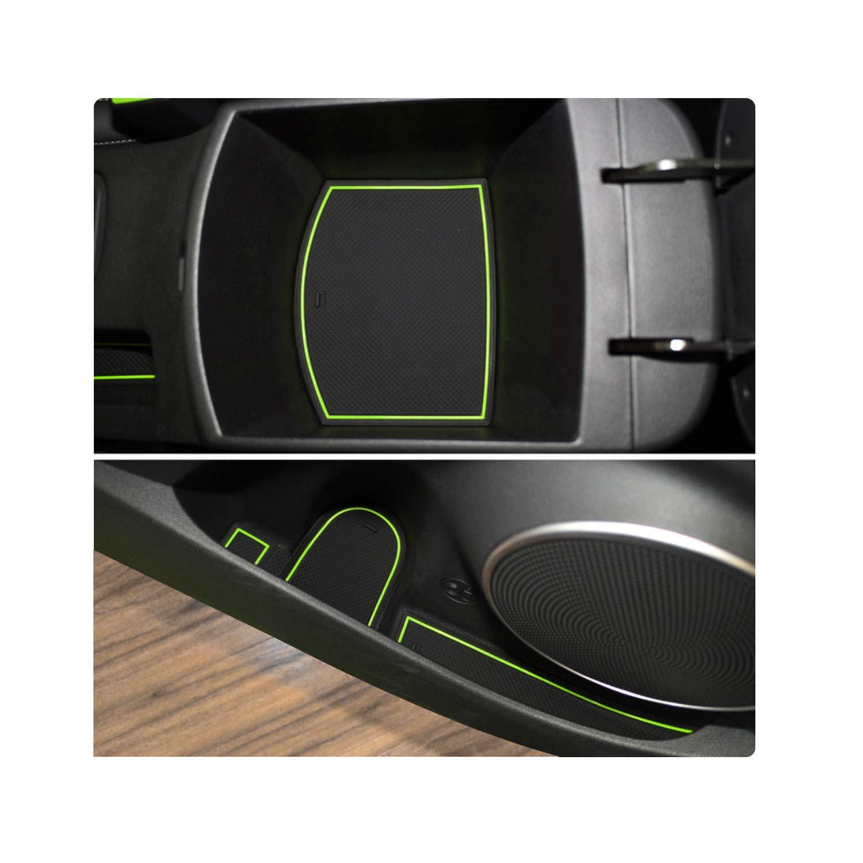 YEE PIN Coche Ranura De La Puerta Alfombra Antideslizante Compatible con Hyundai Kona 2018 2019 Consola Central Caja de Almacenaje Esteras Suaves De Goma Accesorios Interiores de Automoci/ón