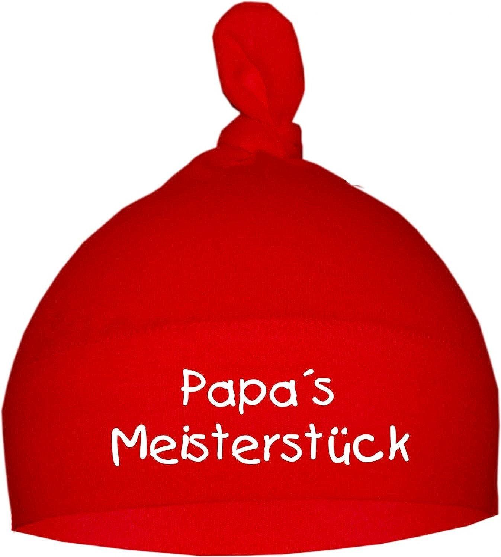KLEINER FRATZ Baby M/ütze PAPAS MEISTERST/ÜCK//Jungen Babym/ütze Motiv M/ädchen Hat