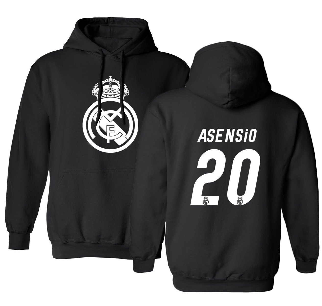 Real Madrid Marco ASENSIO #20 Jersey Shirt Soccer Football Mens Hoodie Sweatshirt