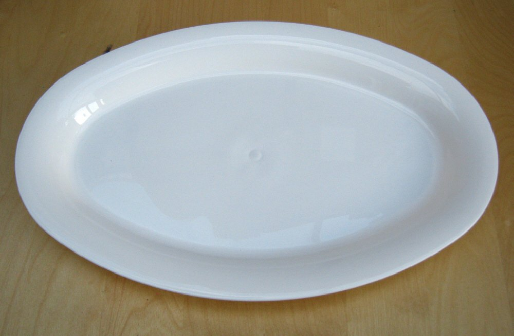 42cm Oval Platter white Whitefurze