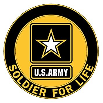 amazon com soldier for life decal us army logo automotive rh amazon com indian army logo pictures