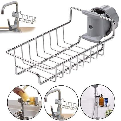 Kitchen Sink Organizer Drainer Caddy for Dishwashing Accessories Stainless  Steel Sink Kitchen Sponge Holder Dish Brush Holder Sink Caddy Sponge Holder  ...