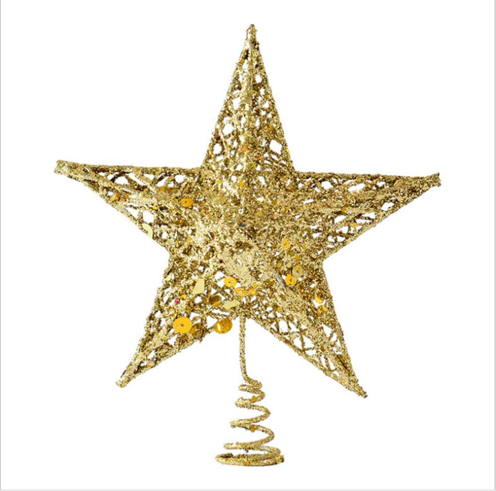 Christmas Tree Star.Sricam Christmas Tree Topper 7 8 Wire Gold Tree Star For Chirstmas Decoration