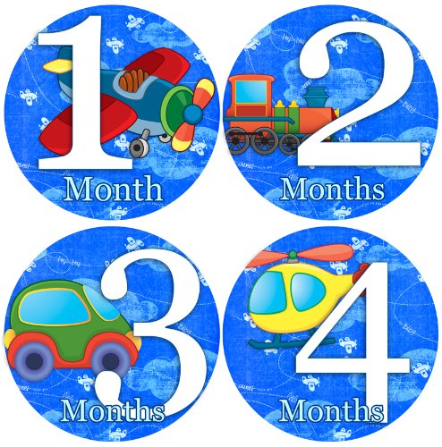 airplanes-cars-trains-helicopters-baby-month-by-month-stickers-baby-month-onesie-stickers-baby-showe