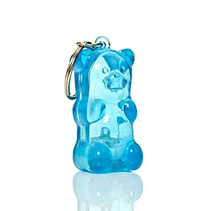 05683a295 Amazon.com  FCTRY Gummygoods Squeezable Light-Up Gummy Bear Keychain ...