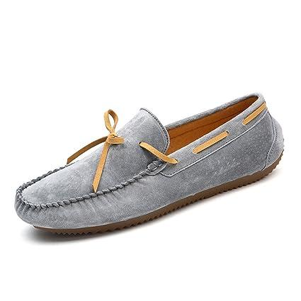 Yajie-shoes, 2018 Mocasines Zapatos para Hombre Mocasines de Plataforma de Suela Plana para