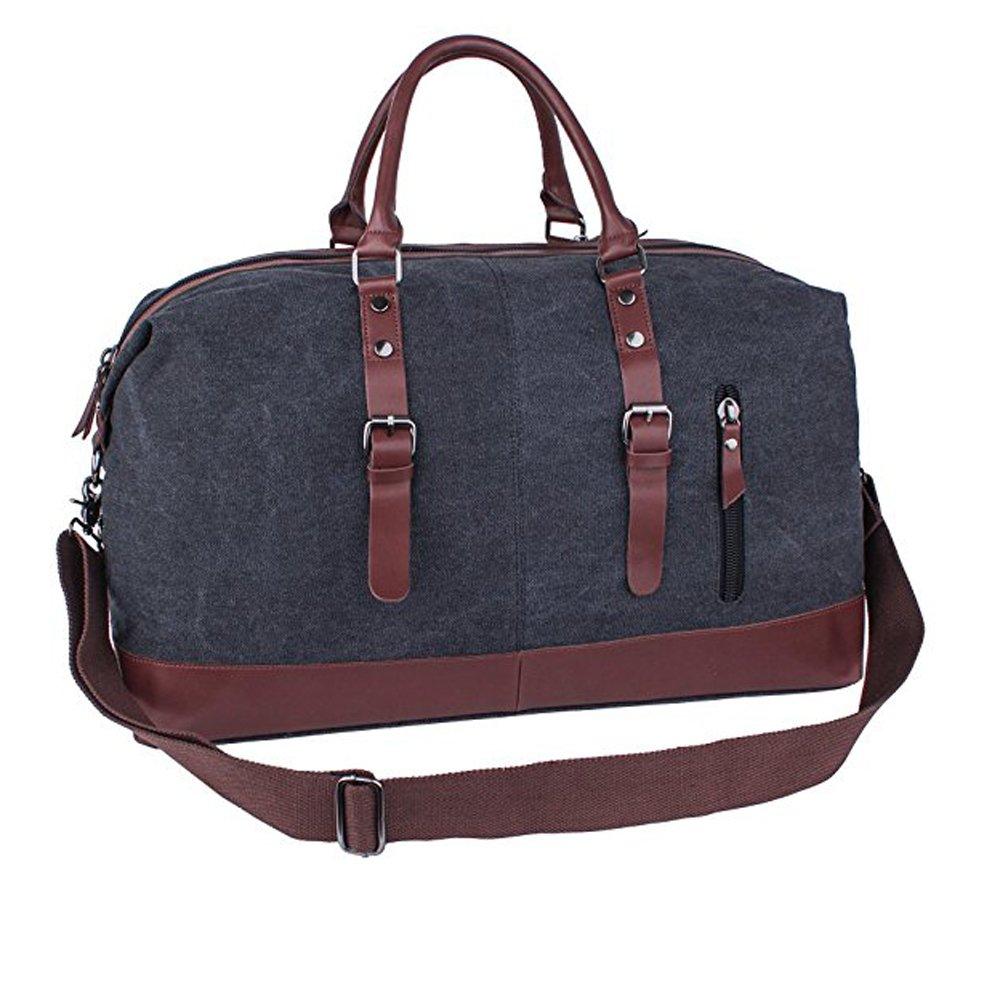 Seamand Canvas Travel Duffel Bag Weekender Extra Large Tote Satchel Handbag