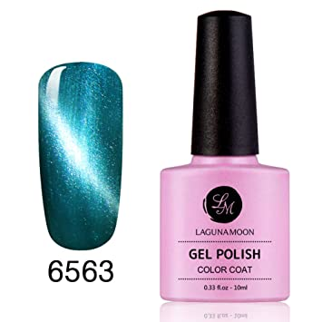 Esmaltes de Uñas en Gel, Magic magnético efecto ojo de gato 3d Soak Off Gel de uñas con purpurina color 6563: Amazon.es: Belleza