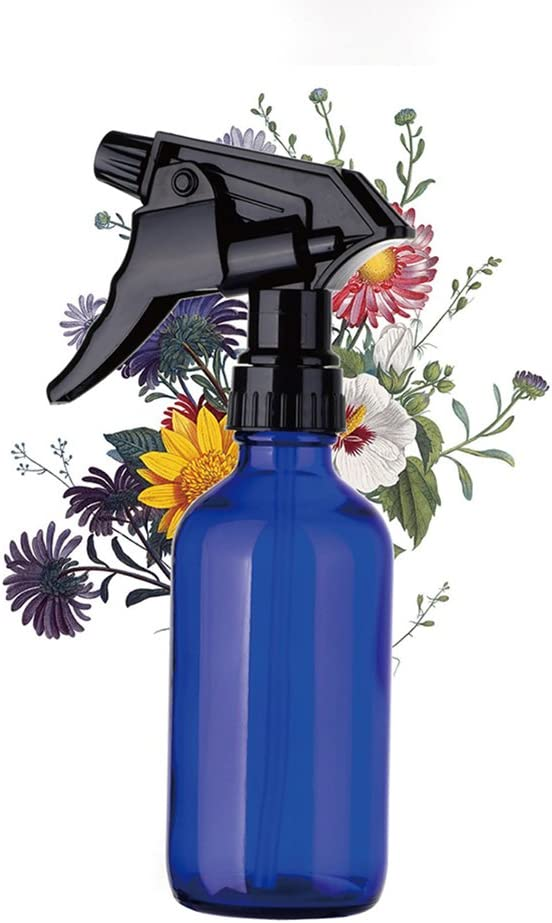 Steellwingsf Empty Mist Spray Bottle,240ml Glass Refillable Large Capacity Water Spray Bottle Travel Planting Sprayer Blue