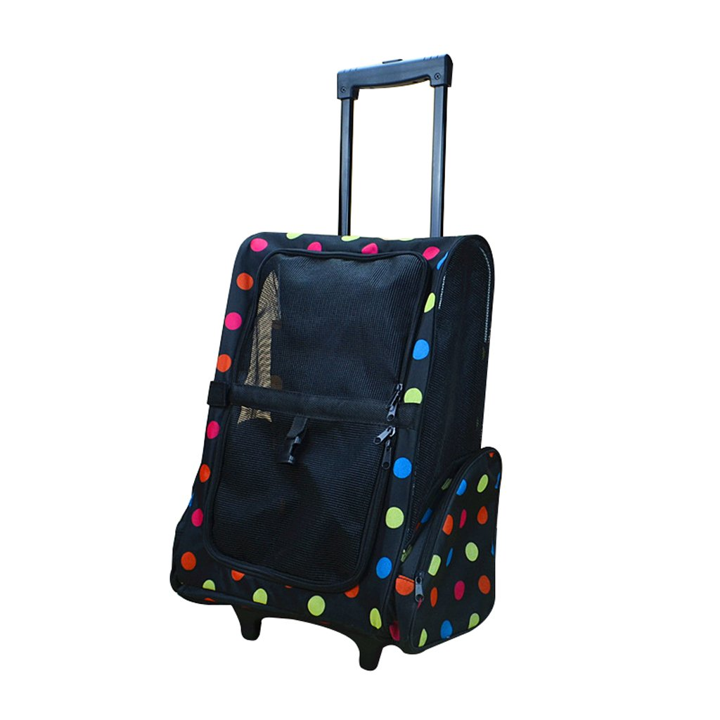Pet Stroller Small Foldable Pet Rod Travel Bag Carrying Backpack Breathable Pet Travel Tug Cat Stroller Outdoor Travel Pet Supplies (color   E)