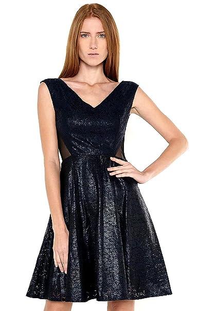 e66f16ffe548 LOB- Vestido Azul Marino Vestido para Mujer Azul Talla X1: Amazon ...