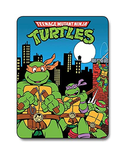 TruffleShuffle Retro Teenage Mutant Ninja Turtles Fleece Blanket