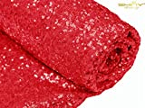 red fabric - 3 Feet 1 Yards-Red-Sequin Fabric, By the Yard, Sequin Fabric, Tablecloth, Linen, For Xmas Decor (Red)