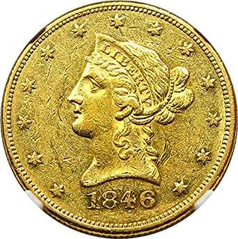 1846 P $10 Liberty Gold Ten Dollar AU55 NGC