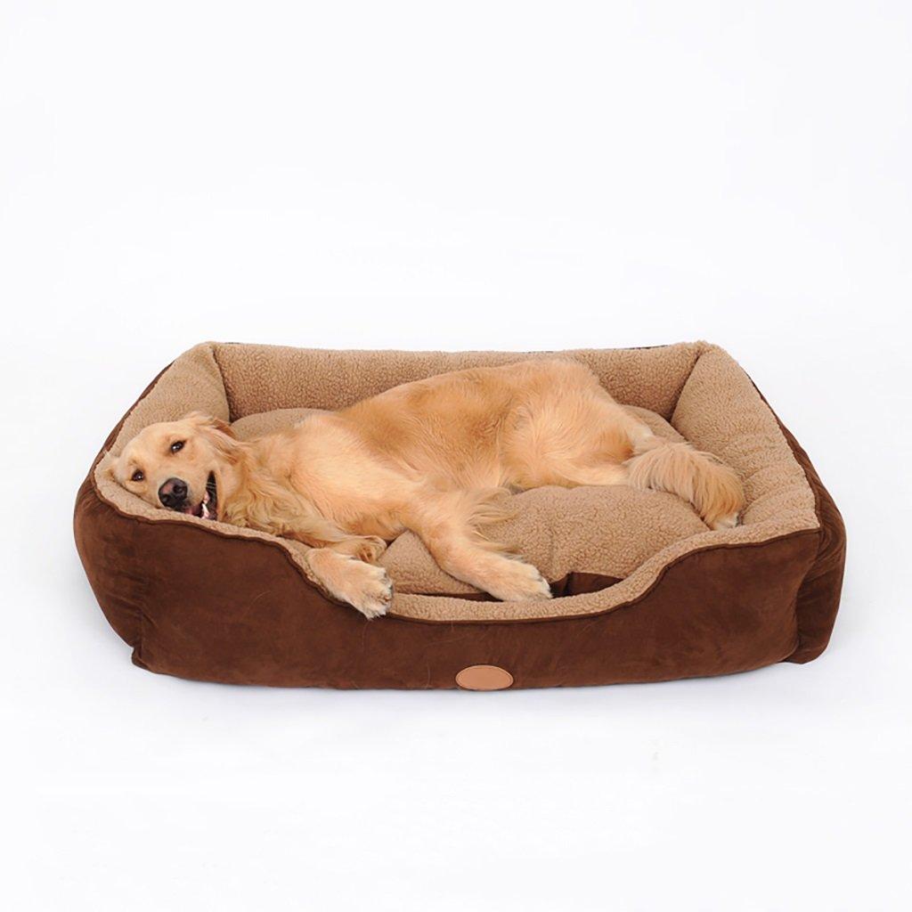 GJ@ + Pet Kennel Cat Nest Desmontable y Lavable Cuatro Estaciones ApplySmall Perro Cama Mat Dog Room, Brown, 90 * 75cm ##: Amazon.es: Hogar