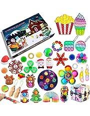 iSayhong Fidget Pack Adventskalender 2021, Kerst Countdown Kalender Fidget Toys Set Pack, Fidget Box Surprise Gifts voor Party Favor, Adventskalender 26, Eén maat