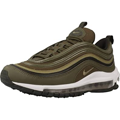 separation shoes 87bce 44d4b Nike Women s W Air Max 97 Low-Top Sneakers, Multicolour (Medium Neutral  Olive