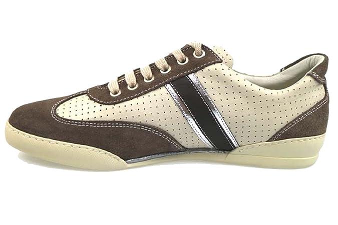 CHANGE Sneakers/Basket Mode Homme Bleu Blanc Gris Daim (40 EU, Bleu)