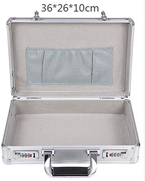 KUANGQIANWEI Caja Herramientas Código de Aluminio Caja de Herramientas Caja de Herramientas Asesor Comercial Hombre Maleta portátil Maletín Caja de Herramientas (Color : Silver): Amazon.es: Hogar