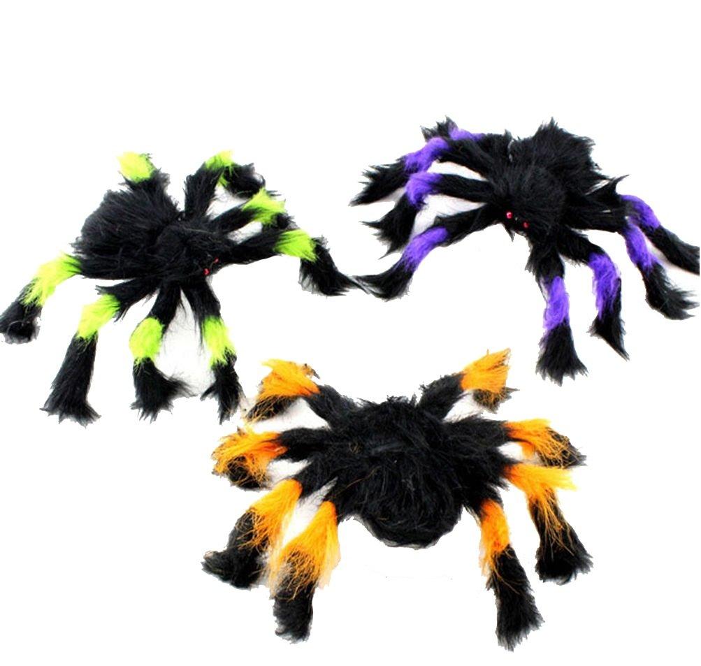 ILOVEDIY Halloween Spinne Deko Partydeko 30cm 75cm 125cm (30cm, Mehrfarbig) sx-22