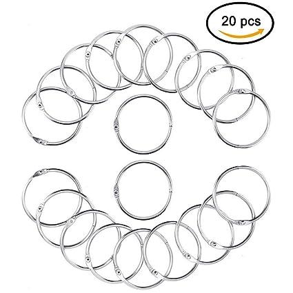 20 anillos de metal para archivador de hojas con anillos ...