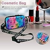 化粧品ケース 化粧ポーチ コスメポーチ 軽量 シンプル スーツケース型 小物収納バッグ 化粧品収納バッグ ミニキャリーバッグ