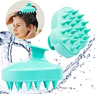 Hair Scalp Massager, Pack of 2 Ondder Hair Shampoo Massage Brush/Body Washing Massager/Soft Silicone Comb/Shower Hair Brush (Light Green)