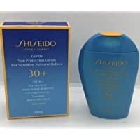 SHISEIDO Gentle Sun Protection Lotion for Sensitive Skin and Babies Broad Spectrum SPF 30+ Sunscreen For Face and Body Full Size 100 mL