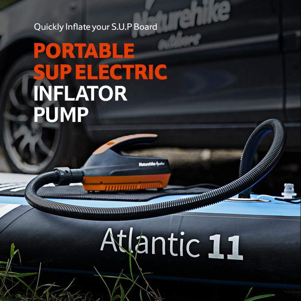 Volwco Elektrische Luftpumpe 12v 20PSI Zweistufig Schnellbef/üllung Inflate Deflate Pump Tragbare Luftpumpe Mit LCD-Display Und 6 Austauschbaren D/üsen F/ür SUP Und Paddle Board Schwimmbadboot