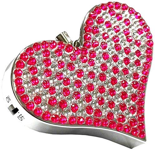 Sunvy 130DB Personal Alarm Crystal Rhinestone Heart Emergency Keychain Safety Alarm for Women, Kids, Students, Night workers, Anti-theft Alarm