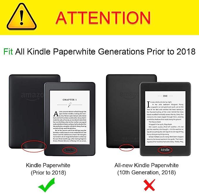 Felfy Kompatibel mit  Kindle Paperwhite 2015 2014 2013 2012 H/ülle Case Sch/ön L/öwe Muster Flip Case PU Leder /& Silikon Inner Back Case Cover im Bookstyle Tasche