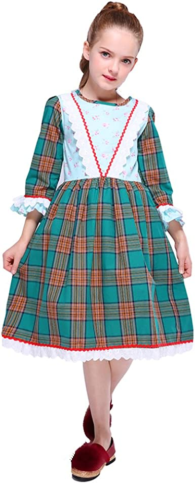Kseniya Kids Big Girls Lace Dresses Flower Bow Girl Party Dress
