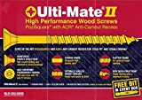 Ulti-Mate II - High Performance Wood Screws - 3.5 x 30mm - Qty 200 by Ultimate II Professional