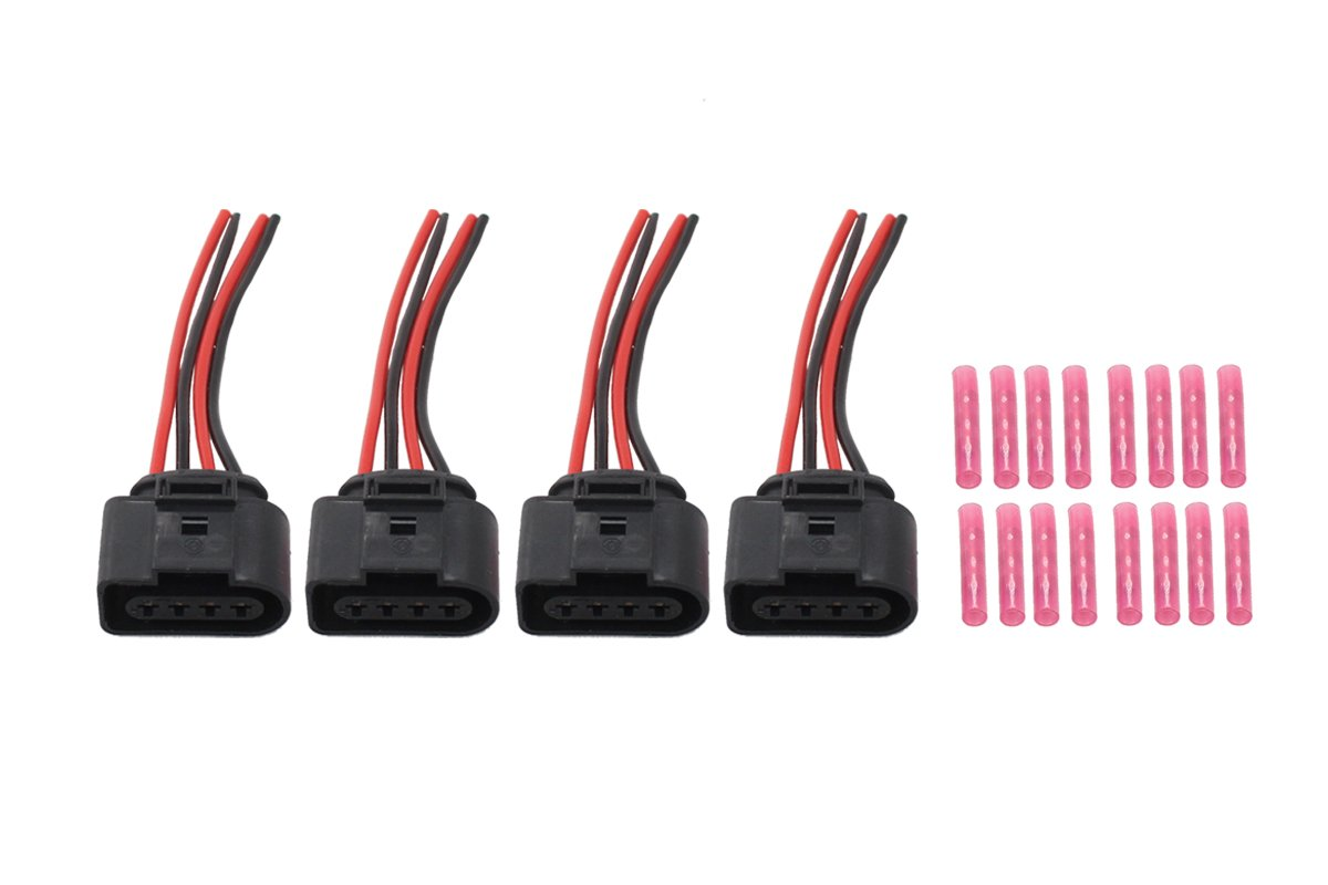 Newyall Pack Of 4 Ignition Coil Connector Repair Harness Plug Wiring Pigtail W Crimp