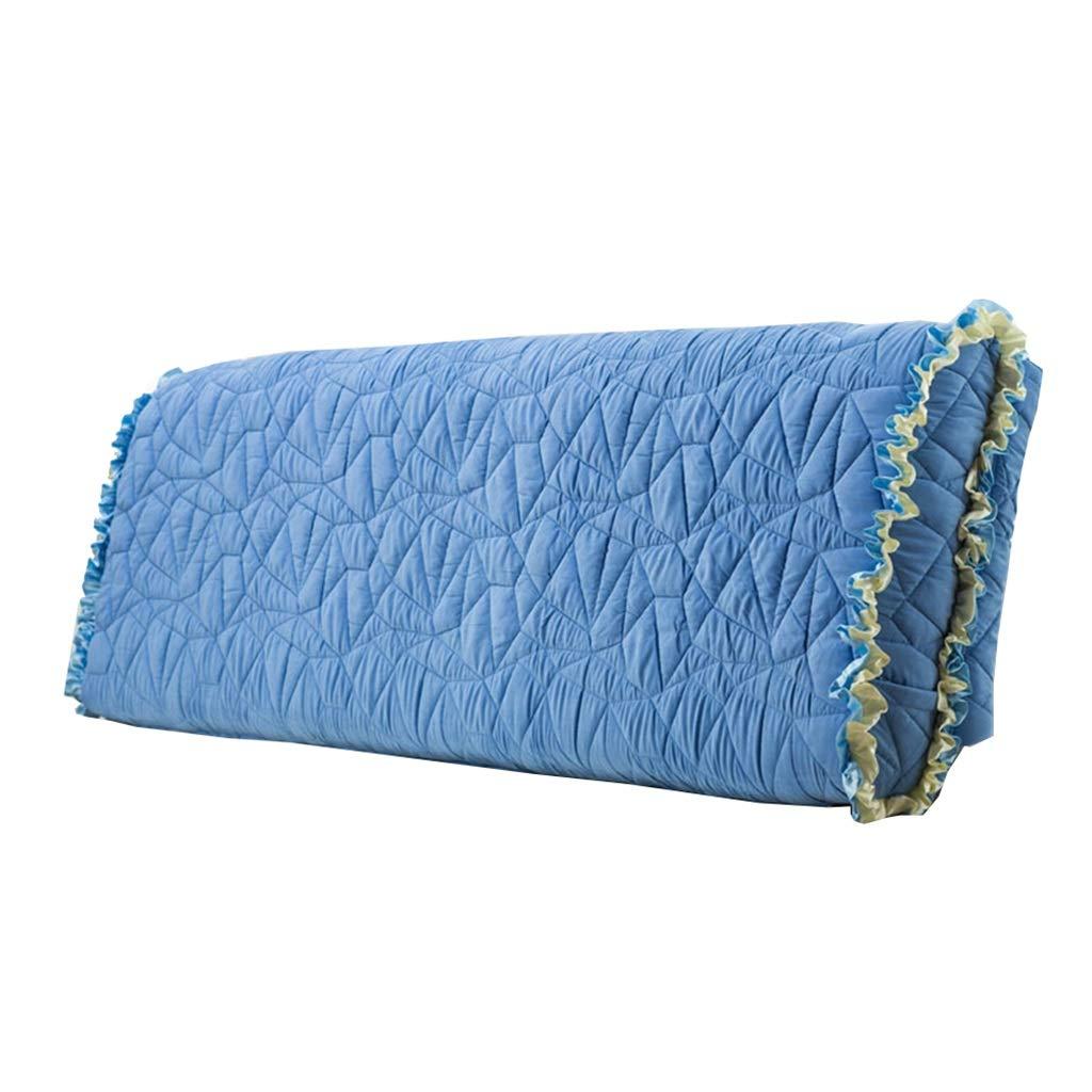 Uus Cuscino da Comodino, Letto Matrimoniale Soft Pack Torna Tessuto Rimovibile e Lavabile Cuscino per Il Riposo (Blu) Pillow (colore   con testiera, Dimensioni   160  60cm)