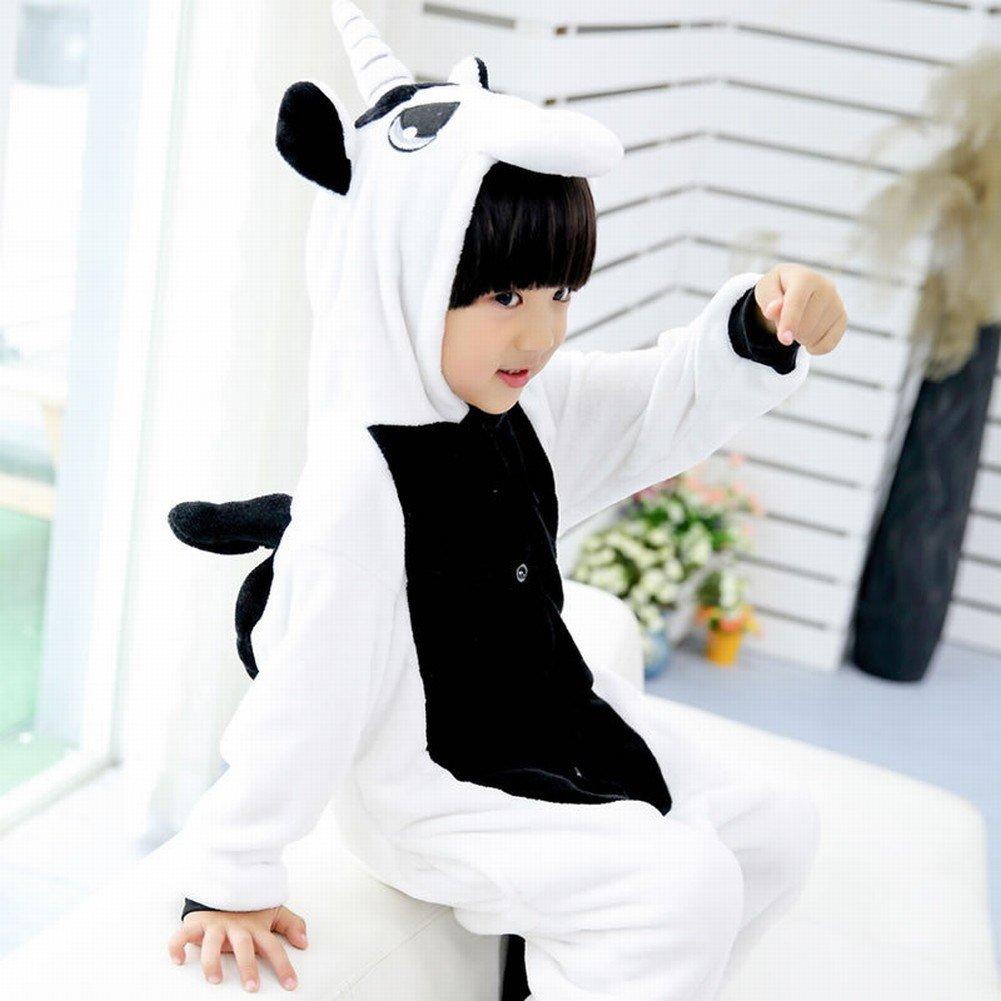 CWJ Pigiama-Kids Cartoon Flanella Animal novità Costumi Cosplay Pigiama Gioco di Ruolo Halloween Gioca Vestiti Unicorno