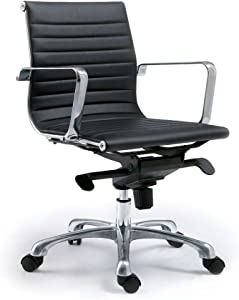 Moe's Home Collection Bern Low Back Office Chair, Black