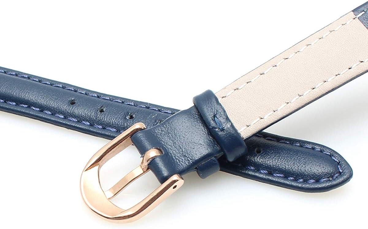 Cuir Ardillon Bracelet Souple du Bracelet Montre Simple Bracelet de Montre Femmes Bracelet en Cuir Couleur Bleu Gray Gold Buckle