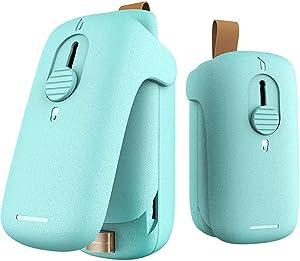 Mini Bag Sealer,2 in 1 Heat Sealer with Cutter,Bag Heat Sealer Handheld Portable Vacuum Sealers for Chip Bags Plastic Bags Food Storage Snack Fresh Bag Sealer (Battery Not Included)