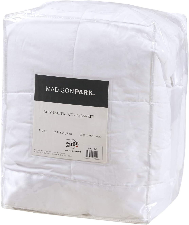Madison Park Windom Microfiber Down Alternative Blanket King Blue