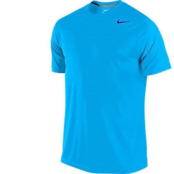 ceaa6994 Amazon.com: Nike Men's Legend Short Sleeve Dri Fit Blue T-Shirt ...