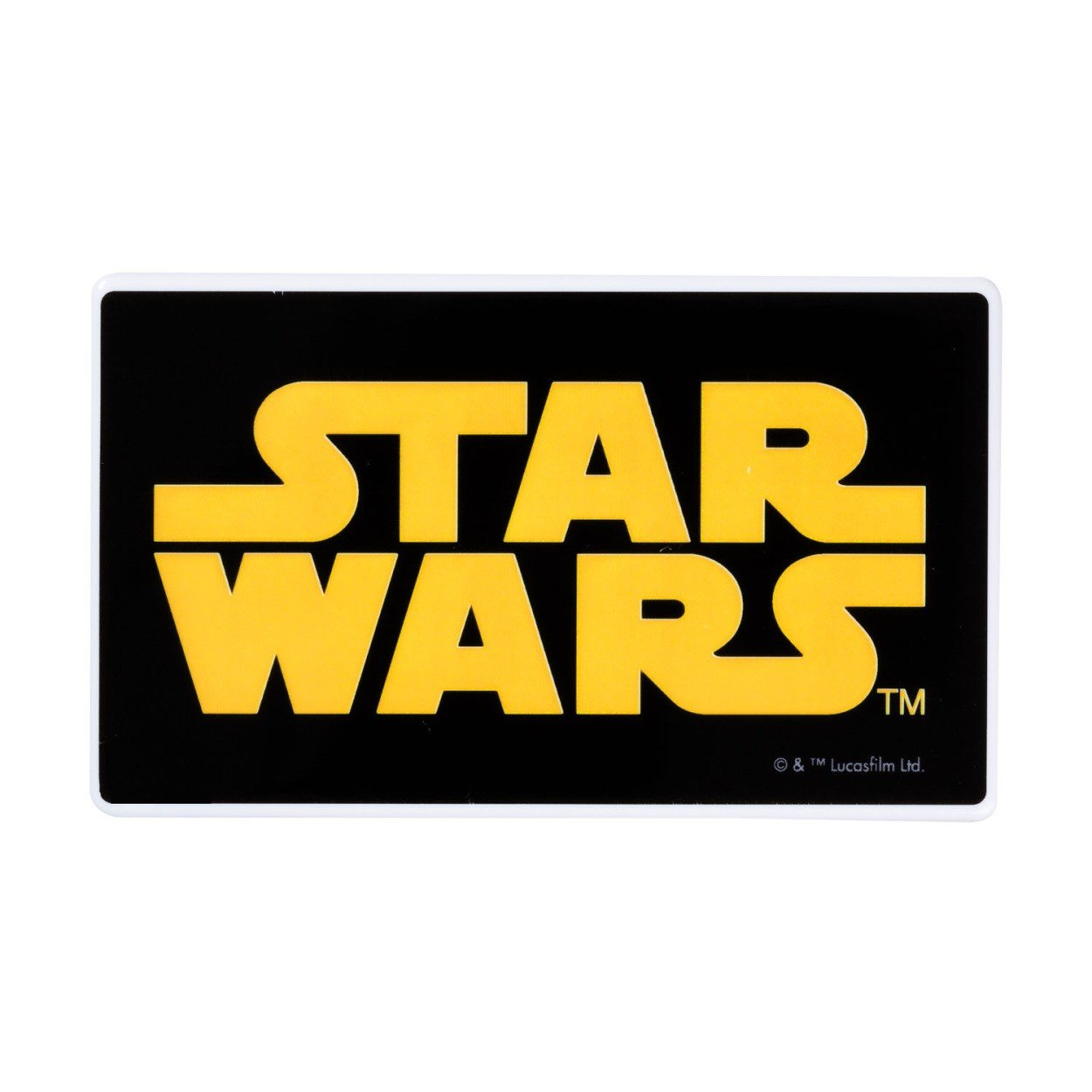 HAMEEその他 スマートフォン用[micro USB/USB給電] USBモバイルバッテリー+micro USBケーブル 30cm (3000mAh・スターウォーズ/ロゴ) STARWARS3000バッテリーLOの画像