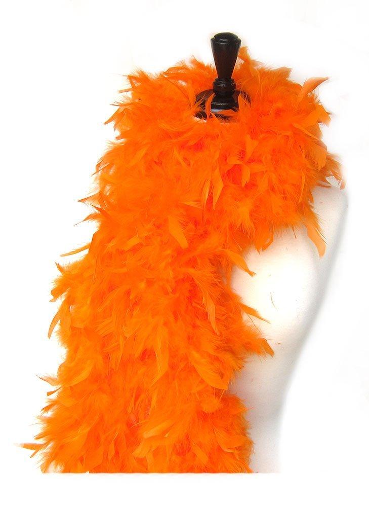 SACASUSA (TM) 100g Turkey Feather BOA Brand New in POLY BAGS ! Turkey Feather Chandelle Boa 6 feet long (Orange)