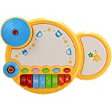 ThinkMax Kids Drum Set, Musical Drum Toy with Light for Baby, Kids and Toddlers