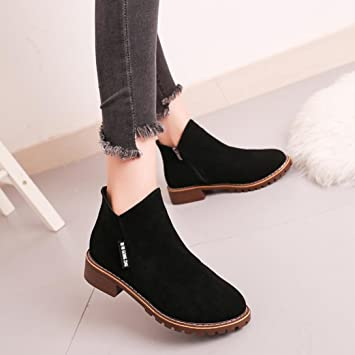 Women Dress Flat Shoes,Hemlock Womens Martin Boots Shoes Casual Outdoors  Winter Shoes (US